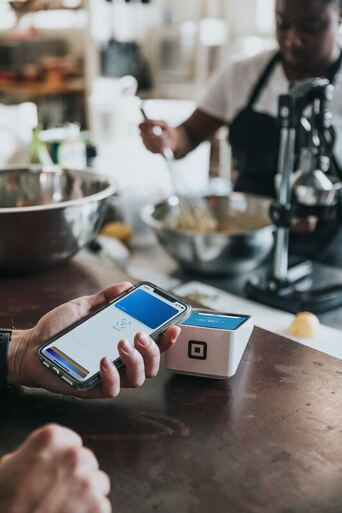 Mobile Phone Payment at Credit Card Terminal